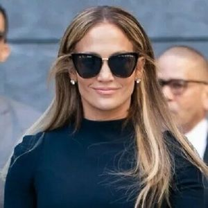 Quay Australia JLO Reina Black Cat Eye Sunglasses